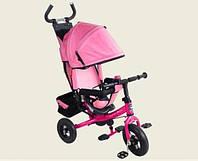 Детский трехколесный велосипед VT1409А розовый, фото 1