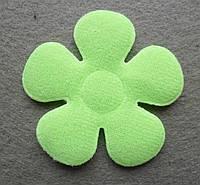 Аппликация пришивная. Зеленый цветок
