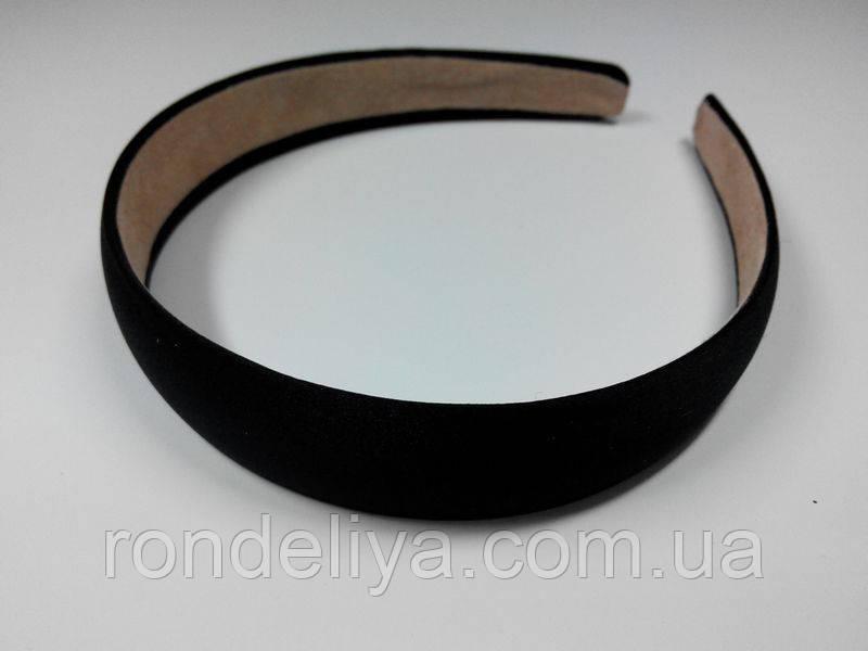Обруч для волос черный 25 мм