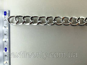 Цепь металлическая витая размер звена 18х14мм цвет серебро