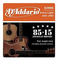 Струны D`ADDARIO EZ900 BRONZE EXTRA LIGHT 10-50