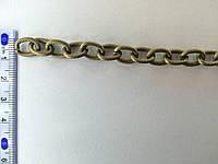 Цепь металлическая витая размер звена 13х8мм цвет антик