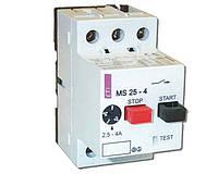 Автоматический выключатель защиты двигателя MS25-2.5, автомат защиты двигателя MS25-2,5
