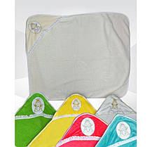 Плед уголок детский махровый с капюшоном Ангелочек, 1 х 1 м