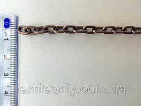 Ланцюг металевий вита розмір ланки 8х5мм колір мідь