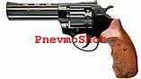 """Револьвер под патрон Флобера Profi 4.5"""" чёрн/под дерево, фото 2"""
