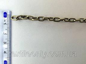 Ланцюг металевий вита розмір ланки 8х5мм колір антик