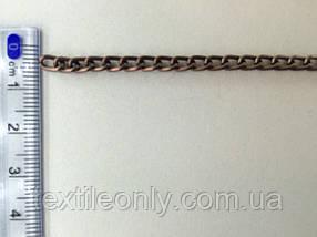 Ланцюг металевий вита розмір ланки 5х3мм колір мідь