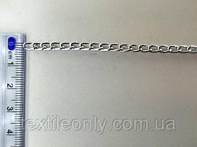 Ланцюг металевий вита розмір ланки 5х3мм колір срібло