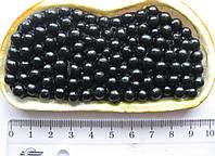 Магнит блинчик с икрой (бутерброд) высота 11,0 ширина 4,0 см. черный