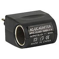 Адаптер Car charge switch переходник сеть - прикуриватель адаптер для автомобиля