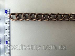 Цепь металлическая витая размер звена 18х14мм цвет медь