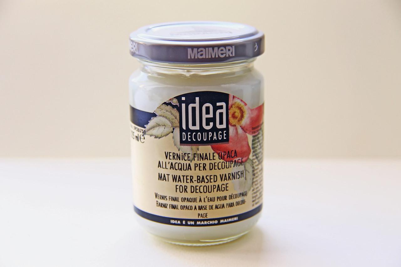 Лак Идея Idea Maimeri (Италия) стекловидный,матовый,для декупажа,эпоксидных смол; пробник 20мл. 751