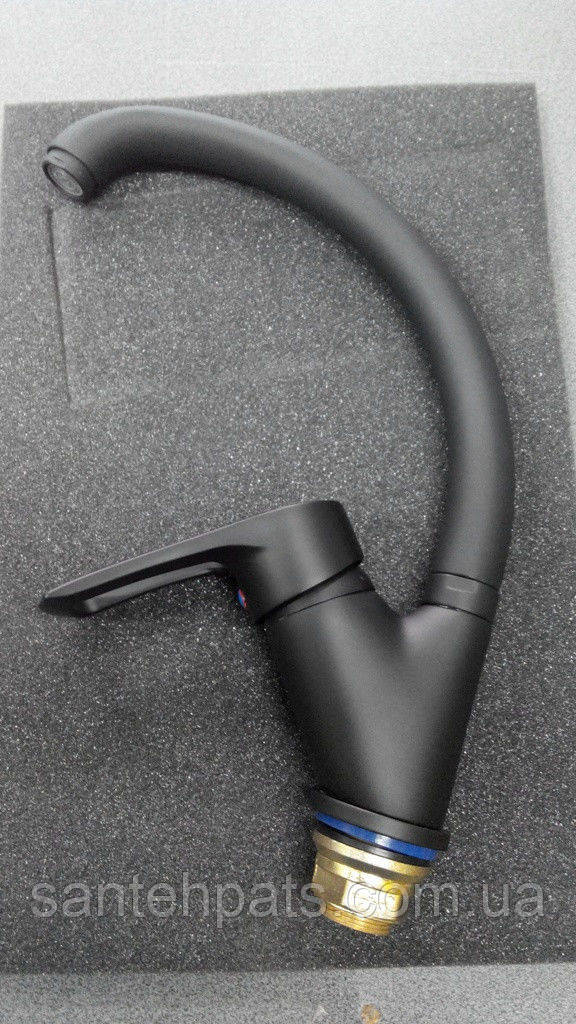 Кухонный смеситель Haiba Hansberg Black-011nut черный матовый, фото 1