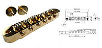 Бридж для электрогитары PAXPHIL BM015 (GD)