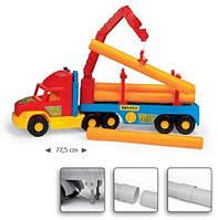 Игрушечная машинка Тягач-трубовоз из серии Super Truck Wader (36540)