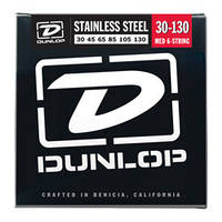 Струны DUNLOP DBS30130 STAINLESS STEEL MEDIUM 6 STRING (30-130)