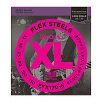 Струны D`ADDARIO EFX170-6 FLEX STEELS LIGHT 6 STRING 32-130