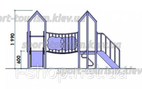 """Детский комплекс """"Радость"""", высота горки 0,6 м., фото 2"""