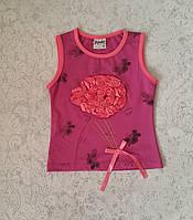 Майка для девочек 92,98,104,110 роста Букетик роз