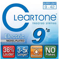 Струны CLEARTONE 9409 ELECTRIC NICKEL-PLATED SUPER LIGHT 09-42