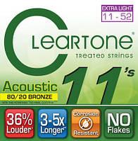 Струны CLEARTONE 7611 ACOUSTIC 80/20 BRONZE ULTRA LIGHT 11-52