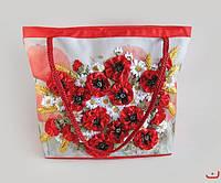 "Danko Toys Набор для творчества  My creative bag  ""Маки"" Сумка вышитая лентами и бисером арт. MCB-01-01"