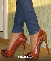 Туфлі зі шкіри пітона / Туфли из кожи питона 0555