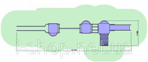 Детский комплекс Рыба DKE012 (высота горки 1,8 и 1,0 м) , фото 3