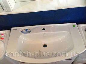 Тумба для ванной комнаты с корзиной для белья Грация Т17 К с умывальником Изео-85, фото 3