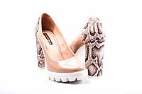 Туфли женские лаковые Foletti (каблук под рептилию)