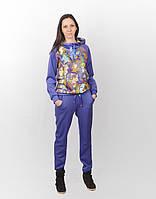 Женский спортивный костюм с ярким принтом СК-0004