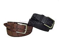 Тиснёный кожаный ремень 402 Tony Perotti