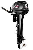 Двухтактный лодочный мотор Парсун T 15 BMS PRO c цифровым зажиганием и выпрямителем 12В