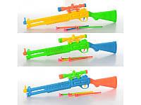 Ружье 207 48см, стрелы-присоски 3шт, 3 цвета, в кульке, 9-48-4 см