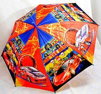 Зонт детский  Тачки  полуавтомат