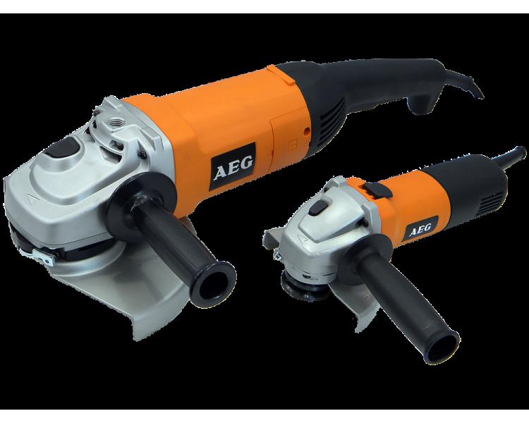 Болгарка AEG WS21-230DMS+AEG WS6-125+кейс