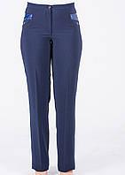 Женские брюки синего цвета батал.