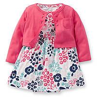 """Платье с кардиганом Carters для девочки  """"Цветочек"""", фото 1"""