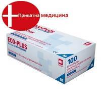 Перчатки латексные без пудры хлорированные ECO-PLUS 01038