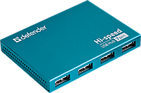 Универсальный USB разветвитель Defender Septima Slim USB2.0, 7портов,блок питания2A