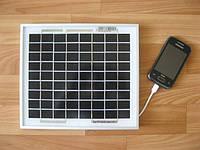 Солнечное зарядное устройство 5Вт USB