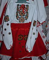 """Вишитий костюм """"Сніжинка"""" червоний"""