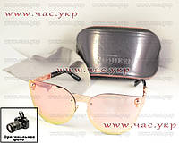 Женские солнцезащитные очки Alexander McQueen зеркальные бронзовые качество череп Александр Маккуин Маквин