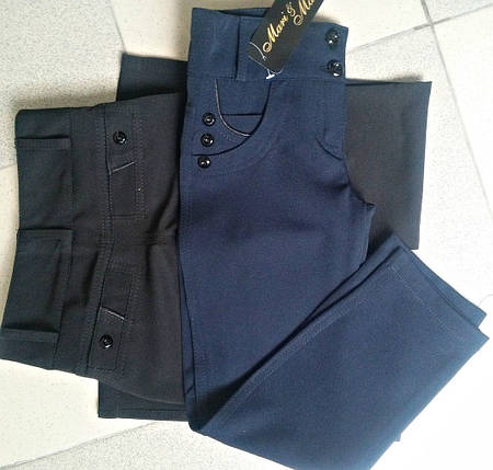 """Детские школьные брюки для девочки """"Соня"""" с пуговицами (2 цвета), фото 2"""