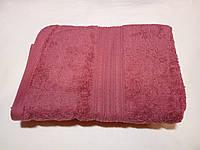 Полотенце махровое 50х90-100 цвет бордовый, Туркменистан