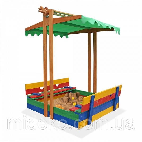 Песочница деревянная цветная