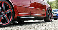 Накладки на пороги Skoda Octavia A5, A5 FL (superskoda)