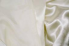 Ткань атласная (атлас), Молочный (Айвери), фото 2