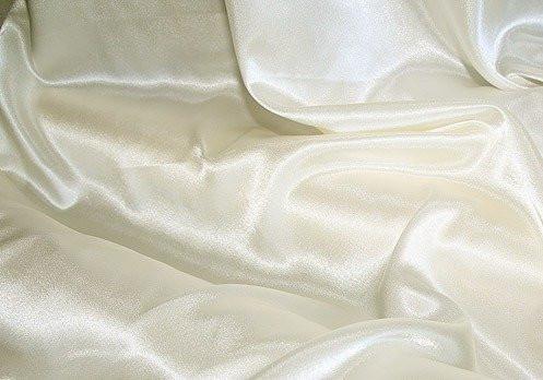 Ткань атласная (атлас), Молочный (Айвери)